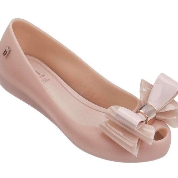 Melissa Shoes   Melissa Pink Twin Bow